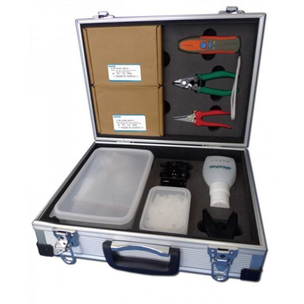 ezi-FIBER Quick Install Technicians Kit, including tools and cleaver