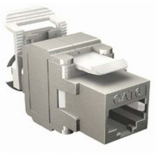 Keystone Jack Cat.6 Fully Shielded, Vertical,  F-Jack ( for normal punch down or F-Tool ) - for patch panel