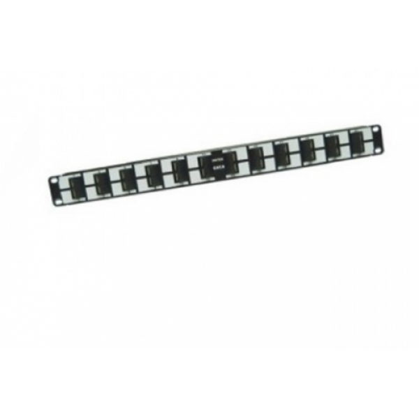 "Patch Panel Cat.6 19"" 45, 24 Ports, 1U , Angle type"
