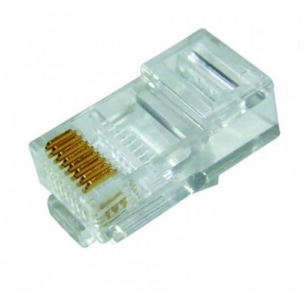 "Modular Plug Cat.6 Unshielded RJ45 ( 3 Prong, 50u"" gold plated ) - 1 or 2-piece"